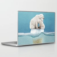 ice Laptop & iPad Skins featuring polar ice cream cap 02 by Vin Zzep