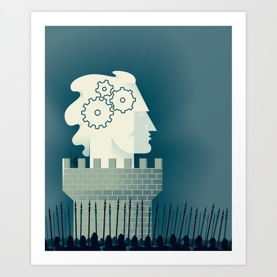 Defending Intellectual Property Art Print