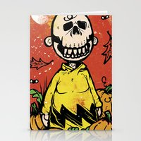 charlie brown Stationery Cards featuring Charlie Brown - The Original Pumpkin King by Neil McKinney