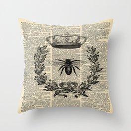 Paris french  garden farmhouse beekeeper honey bee queen Throw Pillow