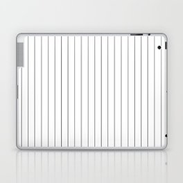 White And Black Pinstripes Lines Stripes Minimalist Stripe Line Laptop & iPad Skin