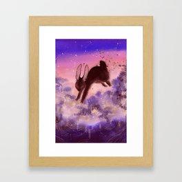 Black Rabbit of Inle Framed Art Print
