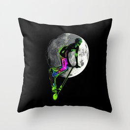 Moon Tripping - Scooter Boy Artwork Throw Pillow