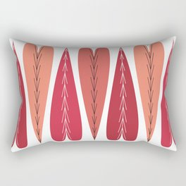 Strawberry Hearts Rectangular Pillow