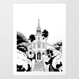 Nagasaki - Oura Church Art Print