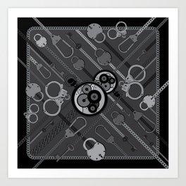 Locks & Chains Scarf Print Art Print