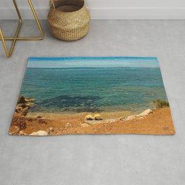 Lovers on Tramuntana Beach - Spain Rug