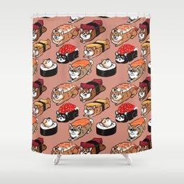 Sushi Shiba Inu Shower Curtain