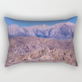 Mount Whitney /view from Movie Flats, Lone Pine, CA. Rectangular Pillow