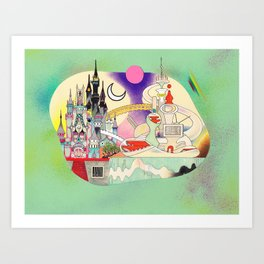 Castle to Castle Art Print