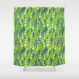 Lily of the Valley Pattern Shower Curtain