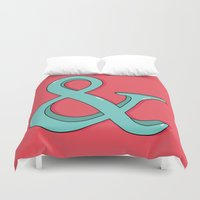 ampersand Duvet Covers featuring Ampersand by Chelsea Herrick