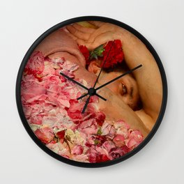 THE ROSES OF HELIOGABALUS (detail) - LAWRENCE ALMA-TADEMA  Wall Clock