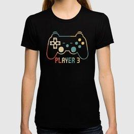 Matching Gamer tee for Dad, Mom & kids Player 1,2,3 Shirt T-Shirt T-shirt