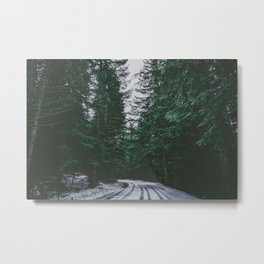 Winter Drive II Metal Print