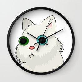 A tired bearded cat Wall Clock