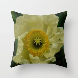 Yellow Cosmo Throw Pillow