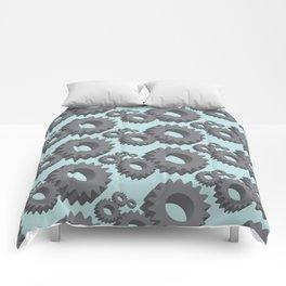 Mechanical cogwheels in 3D Comforters