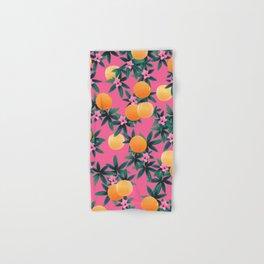 Orange Twist Flower Vibes #1 #tropical #fruit #decor #art #society6 Hand & Bath Towel
