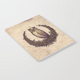 Owl Hedera Moon Notebook