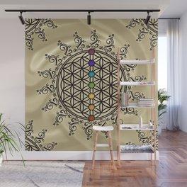 FLOWER OF LIFE, CHAKRAS, SPIRITUALITY, YOGA, ZEN, Wall Mural