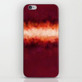 Burgundy, Wine, & Fire iPhone Skin