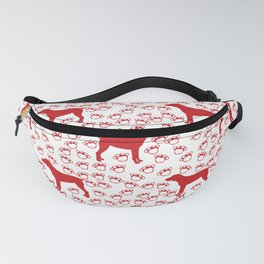 Big Red Dog and Paw Prints Fanny Pack