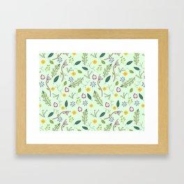 Floral Greenery Pattern I Framed Art Print