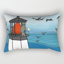Tuskadero Slim at his home in the Cape Meares Lighthouse from Flock of Gerrys Gerry Loves Tacos Rectangular Pillow