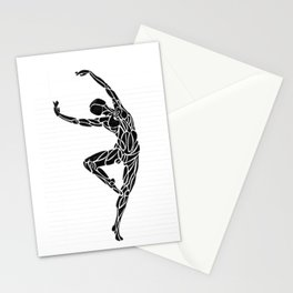 Ballerina Dance Pose Stationery Cards