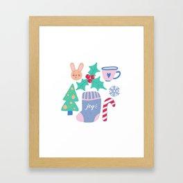 Christmas pattern Framed Art Print