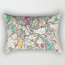Colorful City Maps: Salzburg, Austria Rectangular Pillow