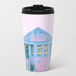 San Francisco Painted Lady House Metal Travel Mug