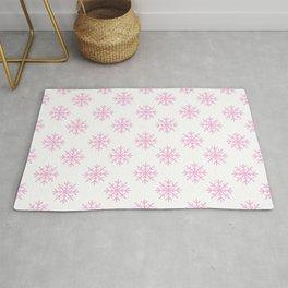 Snowflakes (Pink & White Pattern) Rug