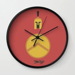 300, minimal movie poster,  Frank Miller, Zack Snyder, Gerard Butler, graphic novel Wall Clock