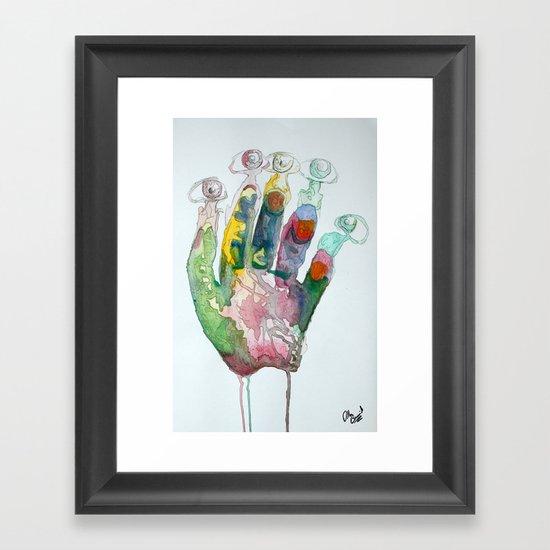 Hand-Eye Framed Art Print