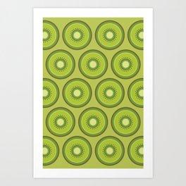 Kiwi Pattern Art Print