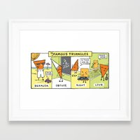 infamous Framed Art Prints featuring The Daily Drawing Comic – Infamous Triangles by The Daily Drawing