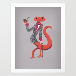 Mr Silas Green - Salamander Extraordinaire Art Print