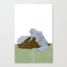 Pelean Volcanic Eruption Canvas Print