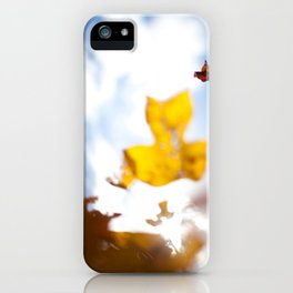 HOME: EARLY OCTOBER, YARD TREES iPhone Case