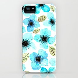 Lilly Blue iPhone Case