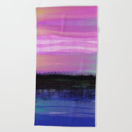 Late Summer Heat Beach Towel