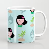hawaii Mugs featuring hawaii by Sucoco