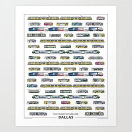 The Transit of Greater Dallas Art Print