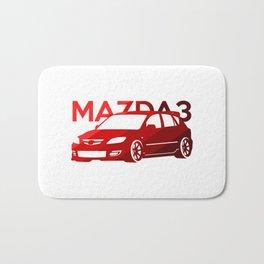 Mazda 3 - classic red - Bath Mat