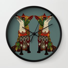 fox love Wall Clock