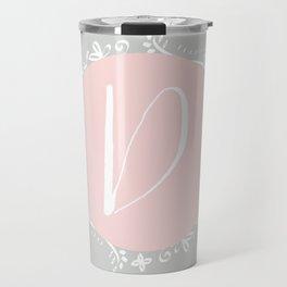 Garland Initial D - Pink Travel Mug