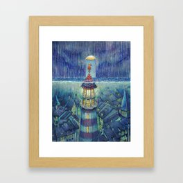 Too much rain Framed Art Print