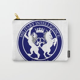 MI6 Logo Button Carry-All Pouch